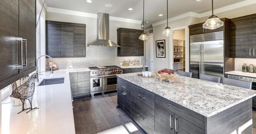 Warm Contemporary Kitchen with Granite and Quartz - Post