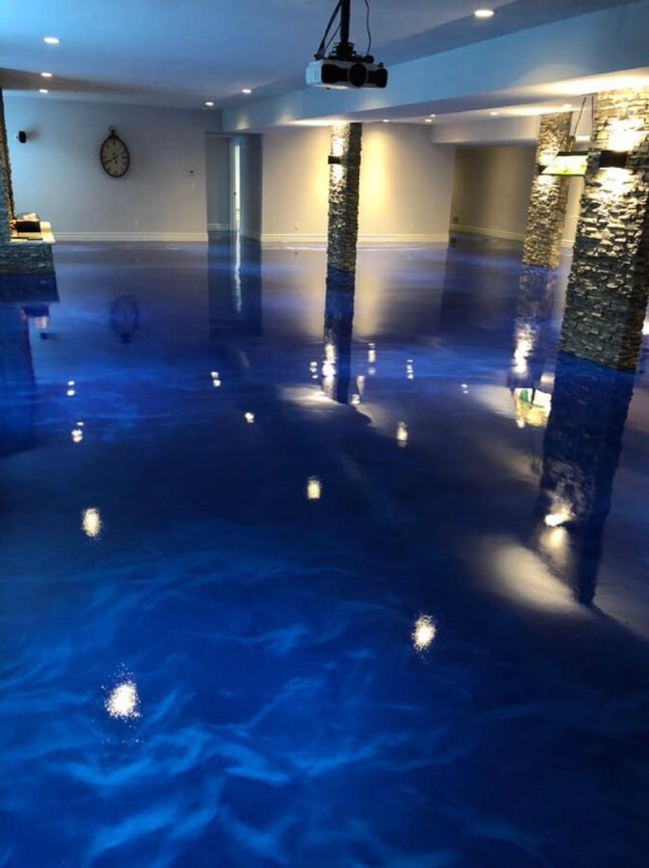 Blue Marble Floor