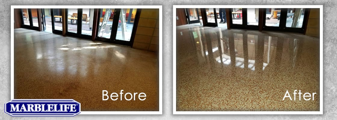 Before and After Terrazzo Restoration