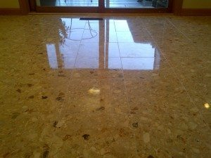 YES, YOU CAN HAVE A SAFE, CLEAN, GLOSSY MARBLE FLOOR. - Post