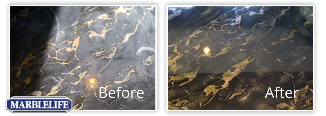 Before and After marble